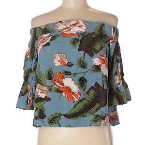 Lulus off the shoulder floral top